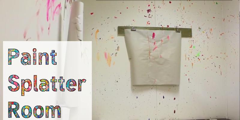 Cason's Place Paint Splatter Room